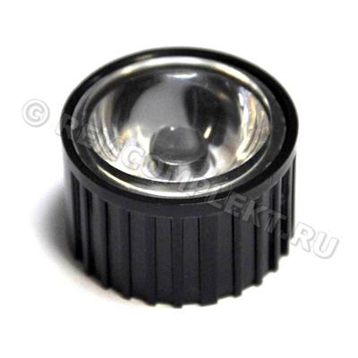 Линза для светодиода d21,75mm h14,45mm 20-60° (опт. цена от 50 шт)