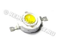 Светодиод 3W белый 220-240Lm 5700-6500K 3,6-3,8V 700mA (опт. цена от 50 шт)