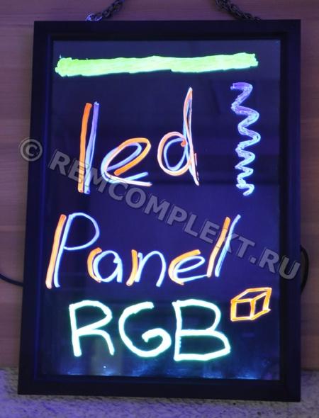 Светодиодная RGB панель 39x28cm черная