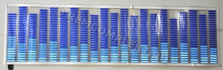 Светящаяся бумага эквалайзер синий 90x25см