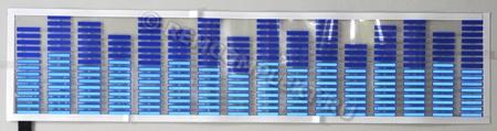 Светящаяся бумага эквалайзер синий 70x16см