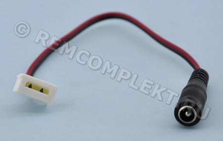 Коннектор зажимной 10мм 2pin с проводом 22см DC 'M' для силиконовых светодиодных лент (опт. цена от 100 шт)