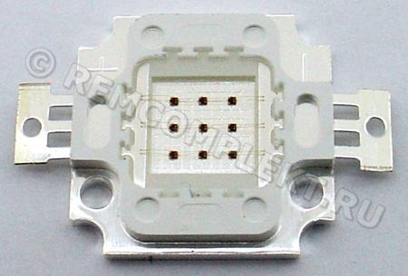 Светодиод 10W красный 400-500Lm 620-625nm 6-8V 1000mA (опт. цена от 4 шт)