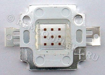 Светодиод 10W желтый 600-800Lm 592-594nm 6-8V 1000mA (опт. цена от 4 шт)