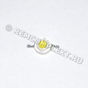 Светодиод 1W белый 110-120Lm 6000k 3,2-3,4V 350mA