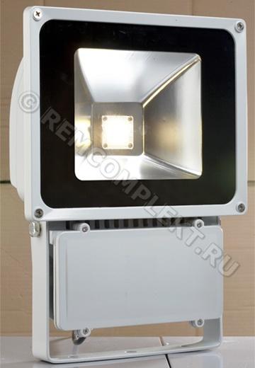 Прожектор светодиодный 80W 5500-6500k 100гр 5600Lm 220V IP65  (опт. цена от 2 шт)