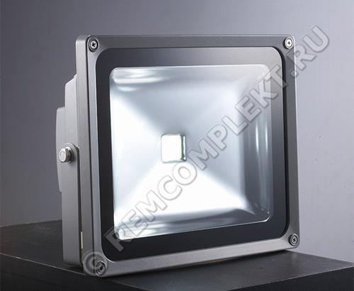 Прожектор светодиодный 50W белый 5500-6500k 100гр 3500Лм 220V IP65 (опт. цена от 2 шт)