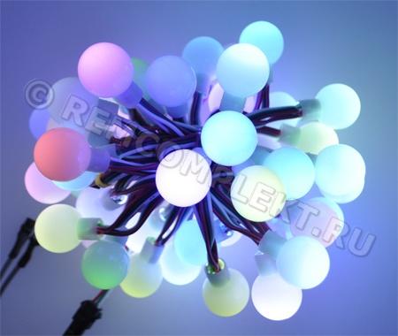 Светодиодные шарики SPI WS2811, 5V , Матовое стекло,  50шт D (опт. цена от 2 шт)