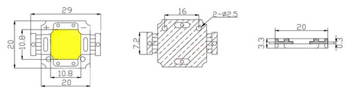 Светодиод 10W IR 940nm 4-5V 1000mA для ночной подсветки (опт. цена от 2 шт)