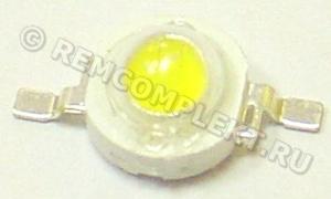 Светодиод 1W белый 100-110Lm 6000-6500k 3,2-3,4V 350mA (опт. цена от 50 шт)
