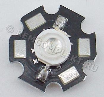 Светодиод 3W синий светодиод на звезде (опт. цена от 10 шт)