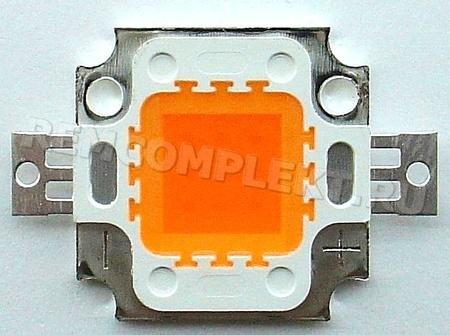 Светодиод 10W 2200-2500K 9-11V малиновый (опт. цена от 4 шт)