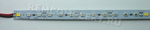 Светодиодный модуль 1м 5630 8R1B1WW Fito 72 светодиода 12V 2,35A (опт. цена от 10 шт)