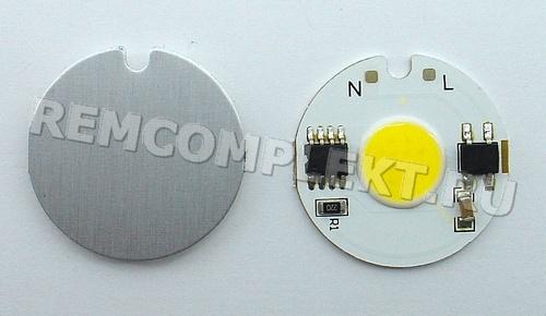 Светодиод 220V 3W WW COB (опт. цена от 10 шт)