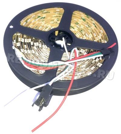 Светодиодная лента SPI SK6812/WS2812B SMD4020 60 led/m 5V 3pin IP20 белая подложка (опт. цена от 10 м)