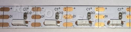 Светодиодная лента SPI SK6812/WS2812B SMD4020 90 led/m 5V 3pin IP20 белая подложка (опт. цена от 10 м)