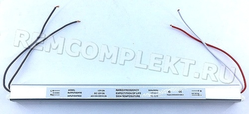 Блок питания 12V 3A ультратонкий в корпусе 248x18x18мм (опт. цена от 10 шт)